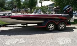 Boat is a 2004 model and Motor is a 2009 Evinrude 200 HO ETEC. The powerhead, complete oiling system and 40f 6 fuel injectors were replaced in July of 2014 and has less than 40 hours use.The lower unit and prop were replaced in April 2015 and has less
