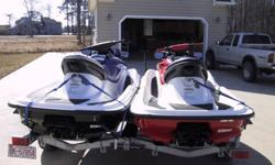 Up for auction/sale are my two Honda F12X's complete with galvanized trailer. The red one is a '04 model bought new in '05 and the blue one is an '05 bought new in '06. They are both on a galvanized double trailer, Road King, and will come complete with