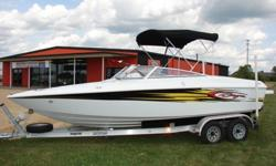 2004 BAJA ISLANDER 202 OPEN BOW WITH ONLY 36 ORIGINAL HOURS.Boat is rated for 8 persons 1600LBS or 2,000LBS total weight with persons and gear. EXTREME LOW LOW HOURS ON A VERY CLEAN BOAT, BEAUTIFUL INTERIOR, NICE GAUGES, CD PLAYER, ALL CUSTOM SNAP COVERS