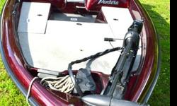 Take a look at this REAL BEAUTY at a bargain price. LIST OF OPTIONS: Minn Kota Maxxum 70 trolling motor, dual consoles, 3 seats for riding, 2 Seats for fishing, LORANCE x125 Locator on Bow for trolling motor, battery charge indicator, water Preassure