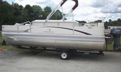 THIS PONTOON IS IN GREAT CONDITION. THERE ARE NO TEARS IN THE UPHOLSTERY. ALL ELECTRONICS WORK PROPERLY. THE 50 HORSE YAMAHA MOTOR RUNS EXCELLENT AND IS OIL INJECTED. THE TRIM WORKS AS IT SHOULD.RECENTLY INSTALLED CD SURROUND SOUND STEREO.THE CANOPY