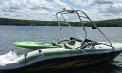 """,,,,,,,,,One owner boat purchased new in 2005 . Seats 8. Custom 3-toned seats and graphics with the very appropriate name """"Here Comes Trouble."""" Very low use -- runs and looks like new. Garaged 10 months out of the year and professionally winterized every"""