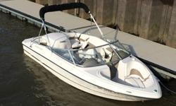 One owner bought in 2004 and in storage since 2006. Just uncovered last week, fresh fuel, new battery and test driven for a few hours today. Boat is beautiful. Runs and drives like new. Upholstery is very clean and everything about the boat is in great