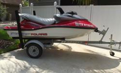 """2004 POLARIS MSX 140TOP SHELF ENGINE WITH TWO-CYCLE, HIGH OUTPUT DIRECT INJECTED ENGINE RATED AT 140 HPSTEPPED CHINE AND DEEP FOOTWALLSSMOKED PLEXIGLASS COVER SHEILDS THE CHROME PLATED INSTRUMENT POD FROM THE SUNPRONOUNCED """"V' SHAPE, MAKING A SHARPER"""