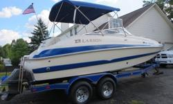 ,,,,2004 Larson 214 Escape Deck Boat (Excellent Shape)Volvo Penta 5.0Liter I/O Volvo Penta DuoProp OutdriveStainless Steel PropsHULL & DECK:Boarding Ladder ? 3 Step Telescoping Stern PlatformBow Rope LockerEnclosed Port Console StorageIntegrated Bow &