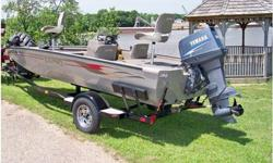 2004 LUND 170 Bass Boat, 2004 Lund 170 Bass Boat powered by a Yamaha 90 HP 2 Stroke. This boat is in very good condition. Additional options inlude a Minn Kota 65 lb Maxxum Trolling Motor, Garmin Fishfinder 240 at bow & Garmin Fishfinder 250 at console,