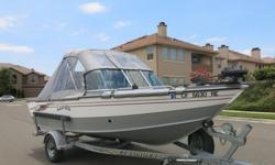 Up for sale is a fully loaded 2004 18' Fisherman Adventure Lund fishing/cruise boat. This Lund comes fully loaded and is equipped with a 150 HP four stroke Yamaha outboard, a 8 HP long shaft Yamaha kicker, two electric Scotty downriggers, Power Drive 24V
