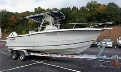 2004 Sea Boss 235CC, Unbelievable like new condition! Porta potty and wet sink. Low hours. On a BRAND NEW Venture tandem trailer with alloy wheels. Furuno GP-1650W Color GPS/WAAS Plotter. Smaller budget doesn't, in this case, mean less quality. For