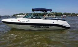 THIS IS 2004 SEA DOO 205 UTOPIA (20.5') JET BOAT ( 240HP) COMPLETE WITH COVER AND TRAILER ( FRESHWATER USE ONLY, NEVER IN SALT WATER, GREEN BAY,WI AREA SINCE NEW ) . THE UTOPIA FEATURES A 240 HP V-6 FUEL INJECTED / OIL INJECTED MERCURY MOTOR ( 174 HRS ),