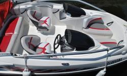 FAST AND SLEEK 20' JET BOAT WITH TWIN V-TECH 4 STROKE ENGINES; 315 HP. RED ACCENTS, SEATS 7. IDEAL FOR SKIING, TOWING OR CRUISING (FRESH/SALT WATER). TONS OF ONBOARD STORAGE. FAST AND SLEEK BOAT. RUNS AMAZING. JUST HAD ENGINES TUNED AND CLEANED. KEPT IN