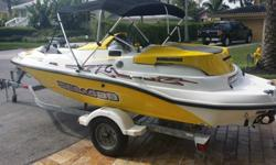 Excellent condition 2004 Seadoo Sportster jet boat. The boat is in mint condition with thousands in extras. Boat has always been garage kept or kept under Seadoo cover when on trips. Cover has been used so it does show some wear and tear. Bimini top had