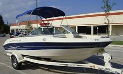 THIS BOAT IS READY TO GO! WE HAVE TAKEN THIS BOAT OUT ABOUT 4 TIMES NOW AND IT RUNS GREAT! IT PULLS A TUBE OR SKIER PERFECTLY. THIS BOAT HAS ABOUT 100 HOURS ON IT AND LOOKS EXCEPTIONALLY WELL. ITS LOADS OF FUN. IT WILL CARRY UP TO 8 PEOPLE COMFORTABLY.
