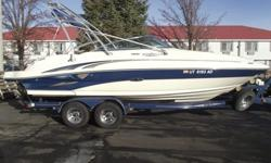 This 2004 Sea Ray Sundeck needs a new home. Nicely loaded for a great day/week on the water. Comes with a tower, bimini, tower lights, wakeboard rack, bow and swim platform ladders, bow and transom wash down shower, pressure sink, head enclosure, trash