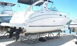 2004 Sea Ray 280 *Twin 4.3 Mercrusiers w Alpha Drives * Generator * Air Conditioning *Full cabin with aft cabin,Stove, Refrigitor,Built in Battery charger *Microwave *Windlass * Spotlight * Ray Marine C-80 electronics system NOTE: Both engines had all
