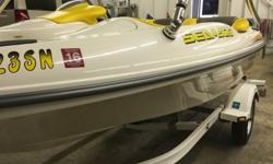 For your consideration is a MINT CONDITION!! , low hour and always stored in heated garage 2004 Seadoo Sportster DI, with just 49 hrs. of run time it is like new. This year the prop was replaced with a solas concorde for better towing along with new pump
