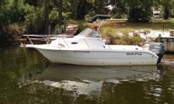 THIS SEAFOX IS A GREAT FISHING AND FAMILY FUN BOAT. SHE WILL CARRY 8 PEOPLE EASLY AND THE CUDY GIVES PLACE FOR EQUIPMENT AND DRY STORAGE,IT ALSO OFFERS A PLACE TO GET OUT OF THE WEATHER OR A PLACE FOR THE GIRLS TO GO TO THE REST ROOM OR EVEN TO SLEEP ON A