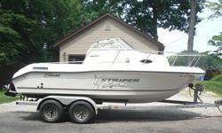 ...,,,2004 Seaswirl Striper 1851 WA. This boat is in excellent condition throughout.It has a 190 HP 4.3 liter Mercruiser IO with a stainless steel prop that looks new with only 236 hours.It comes equipped with a standard Horizon ship to shore radio and a