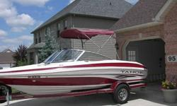This 2004 Tahoe Q5 runabout boat and EZ load trailer are in excellent condition. The boat has been stored in my garage during winter months. The MerCruiser 4.3L 190HP motor has only been used for approximately 150 hours. I am the original owner of this
