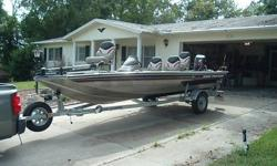 2004 Pro Crappie 175. One owner. All owners manuals. Low hours and very good condition, best estimate on usage would be less than 12 tanks of gas used in boat. I have always kept Sta-bil in gas. Used in fresh water only. Garage kept. 40 H.P. Mercury with