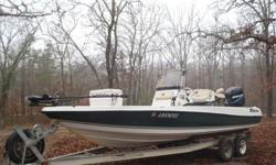 2004 Triton Ctr. consul. It's 22 foot long all fiberglass boa,t No wood it is the LTS 220 it has a 2004 Mercury OPTi max saltwater series and spent all of it's life in freshwater is got a OMC jack plate it also has a 100 pound min koda I pilot trolling