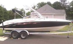 2004 yamaha ar230 jetboat twin MR1 engines awsome on gas 100 hrs holds 10 persons ,boat is loaded wake board tower, wake board racks, 6 speakers with amp,and subwoofer, led lights in cockpit, bimini top , table in center of cockpit ,can be set up on swim