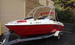 Used Yamaha AR210 jet boat runs great. The motors are very strong & very fast. They have just been serviced & winterized. It was serviced at the beginning and end of every season. The fiberglass hull is spotless. With the wake tower option it is an