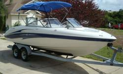 WE ARE PROUD TO OFFER THIS BEAUTIFUL 2004 MODEL YAMAHA SX230. AS YOU CAN SEE IN THE PHOTOS SHE HAS JUST ABOUT EVERYTHING YOU CAN ASK FOR TO ENSURE YOUR TIME ON THE WATER IS ENJOYABLE. TO START WITH CHECK OUT THE TWIN 4-STROKE YAMAHA MOTORS PUSHING A TOTAL