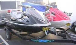 IT'S TIME TO PLAY IN THE SUNSHINE & WAVES ON THIS SET OF TWO (2) BEAUTIFUL (2005 & 2007) YAMAHA WAVE RUNNERS (W/ TRAILER)- 2007 Yamaha VX1100A-F (black) WAVE RUNNER: Includes 1052cc 4-stroke 4-cylinder engine with 110 hp electronic fuel injection,