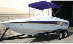 Stock Number: 720839. This boat is in absolute great shape, an eye catching boat for sure! I just upgraded the motor to get more horsepower. Stock has 260 hp. now I get 300+....Top speed is now 77mph! It's a custom boat with lots of extras including: