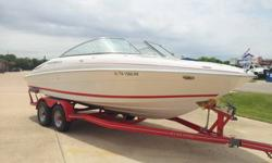 709268. This is a great 2005 Four Winns with the capacity for speed and the elegance to entertain while on the water with a sink and plenty of room to lounge around and suntan. It's been garage maintained, serviced every year in the Spring. 150 hours on