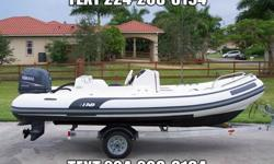 2005 AB Nautilus 15 Ft Deluxe RIB (Rigid Inflatable Bottom), this boat is in great condition & excellent working order, it has a 2005 Yamaha 60 hp 4-Stroke Engine, it's fast, starts right away and runs super smooth, the motor has under 150 hours of total