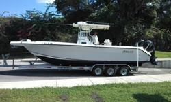Angler 290Make; AnglerLength; 29ft Year; 2005Hull Material ; FiberglassNumber of Engines ; 2 / Twin Mercury Verado 250hp , 4 stroke Fuel type ; Gas/ PetrolEngine hours; 700Location; Fort Lauderdale , FL This vessel is in exceptionally excellent condition,