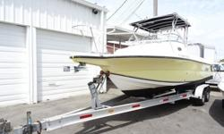 "2005 Angler 2500 Walk Around Twin Yamaha Fours Strokes!!! Boat Type: Outboard BoatsEngine Specifications: Quantity: 2 115hp Yamaha Four StrokesHorse Power: 230hpType: GasolineHull Material: FiberglassBeam: 8'6""Length: 26'Net Weight (lbs): 3500Cruise"