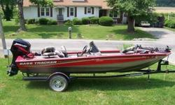2005 Bass tracker 175 special edition for sale. this boat not only looks great but runs great also. The boat has a 50 horse mercury outboard with automatic oil injector to fill and go. The boat has a 46 lb motorguide trolling motor,2 electric winches for