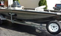 2005 Bass Tracker with TrailStar trailer for sale by original owner. Light enough for the solo fisherman to easily launch and trailer, but with room for up to four adults. Kept in garage when not in use and was professionally stored during the winter.