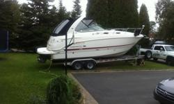 Chaparral 270 2005 with two V6 engines VolVo 4,3l GXI , 525 hours , second owner buy from dealer in 2010 5000 watt generator kholer , air conditioning, vacu flush toilet , television with DVD player, VHF, Winlass Free fall , possibility trailer twice