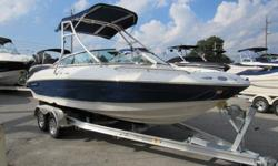 This awesome 21 foot Crownline bowrider just came in on trade and is in amazing condition inside and out. The boat must have been special ordered because it comes totally loaded with some killer options. It is pushed by a Mercruiser 5.0l 305 cid multiport