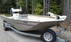 2005 G3 2072 DLX in very good condition. Yamaha F115 four stroke motor has less than 200 hours, runs great. Inside of boat has sprayed in bedliner. New cooler seat with bracket to give it the functionality of a leaning post. New LED lights underneath the