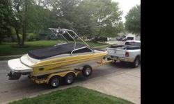2005 GLASTRON.. 20 FT LENGTH..FIBERGLASS...INBOARD.....NEW PROP...CUSTOM STERO SYSTEM $5,000,WAKE BOARD TOWER, SWIM DECK2005 EZ TRAILER170 hoursWell maintained have all records, no rips in seatsAll life vest, ropes, tubes, wakeboards, knee board