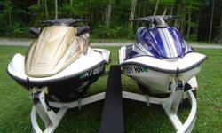 2005 Honda Aquatrax R-12 and F-12X trailer JetSkiYou are looking at a pair of ultra high-end personal watercraft. They are both 2005 Honda Aquatrax PWCs that sold new in 2008 and have barely seen water. The blue one in the photos is an R-12 and the
