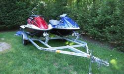 Up for sale are a 2005 Honda Auqatrax F-12x GPS TURBO and a 2007 Yamaha VX110 Deluxe sitting on a new karavan trailer. Both machines are very powerful three seaters that are more than capable of pulling a tube, or other watersport activities. Both
