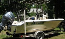 This 2005 Key West 19' Center Console is a really great fishing boat, Salmon - Walleye or just Cruising. This 2005 Key West has only 184 hours and features a Yamaha 115 hp 4-stroke outboard. Boat is in excellent condition and always properly maintained.