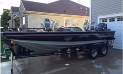 2005 Lund 1900 pro V IFS,Fishing machine with all the options Dual live wells and bait wells Snap out floor carpet ,rod locker,tackle bin storage.3 lowrance fish locators with side scan and 3 D imaging 8 hp Yamaha kicker with remote steering Electric