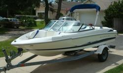 YOU ARE LOOKING AT A 2005 MAXUM 1800 MX BOW RIDER. SHE IS IN EXCELLENT CONDITION AND RUNS OUT GREAT. THE COCKPIT IS USER FRIENDLY AND HAS FULL INSTRUMENTATION. THE UPHOLSTERY IS IN GOOD CONDITION AND THANKS TO THE NO CARPET FLOOR, CLEANING IS A SNAP. THE