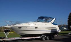 YOU ARE VIEWING A VERY CLEAN 2005 MAXUM 2900 SE EXPRESS CRUISER AND TRAILER. THIS EXCEPTIONALLY CLEAN CRUISER IS POWERED WITH TWIN 220 HP FUEL-INJECTED MERCRUISER BRAVO STERN DRIVES WITH ONLY 385 HOURS OF WELL CARED FOR AND FULLY SERVICED USE . THE