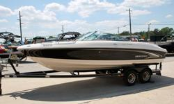 This 2005 Monterey 22 foot bowrider is in awesome condition inside and out!!! It is powered by a brand new, complete engine, fresh out of the box from Volvo. The previous owner who traded the boat did not winterize his boat correctly last season and the