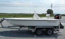 -- Type: Center console -- Engine type: Single outboard -- Length (feet): 18.0 -- Engine make: Mercury -- Primary fuel type: Gas -- Engine model: 50 hp -- Fuel capacity (gallons): 11-20 -- Hull material: FiberglassThe exterior paint is in great condition