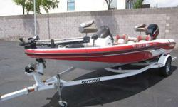 2005 Nitro NX 750 SC 90 HP Mercury 2 Stroke X47 Fish Finder, 43 lb Motorguide Trolling Motor, Livewell, Side Rod Storage, Trailer w/Brakes & Swing Tongue Storage, New Full Nitro Mooring Cover At 17`6`, this compact model in the NX Series is big in