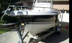 2005 Pro-Line 24 Sport Center Console with 2005 Honda 225 four stroke. The Honda has about 170 hours. I replaced Fishbox macerator pump, Baitwell Aerator pump, hydraulic steering seals and interior. It has had 150 hour service completed, so it is ready