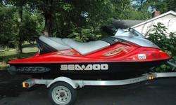 The 2005 Seadoo GTX Wake is tricked out with a retractable ski tow pylon with secure handgrips for the observer, convex mirrors for a wider field of view and a wakeboard rack. The Wake's torquey four-stroke engine provides the low-end grunt to pop riders